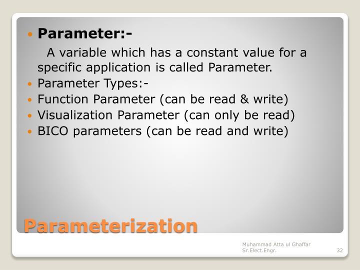 Parameter:-