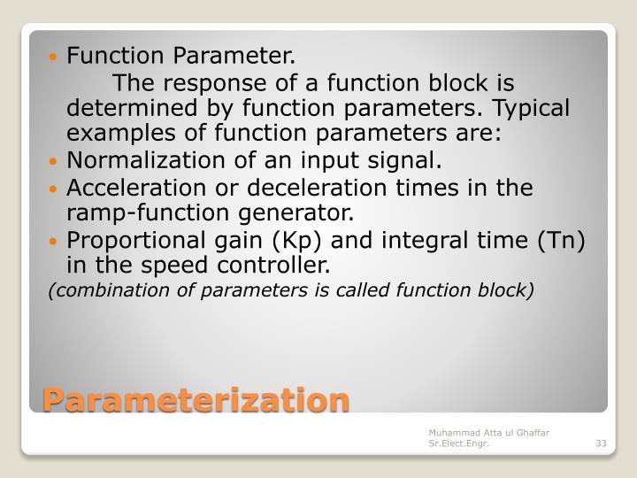 Function Parameter.