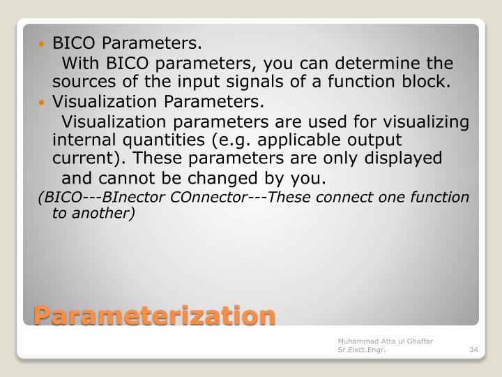 BICO Parameters.