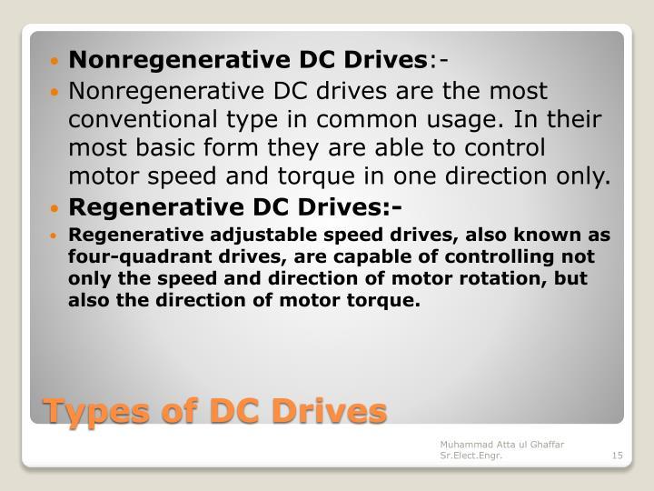 Nonregenerative DC Drives