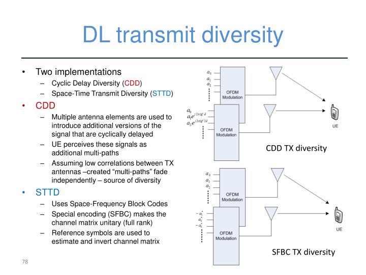 DL transmit diversity