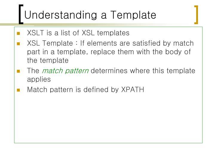 Understanding a Template