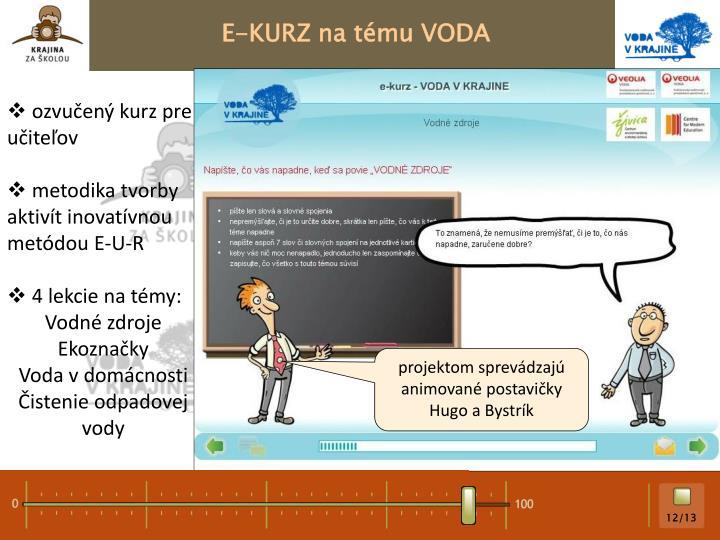E-KURZ na tému VODA