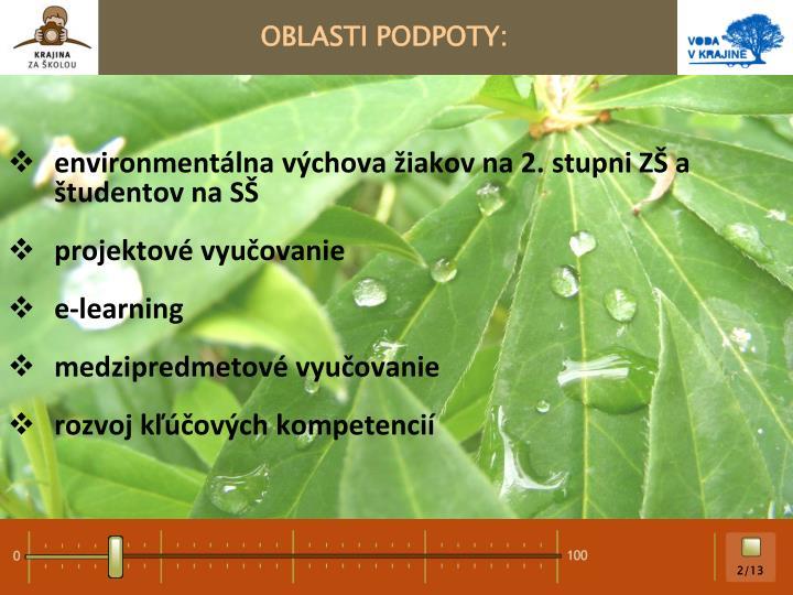 OBLASTI PODPOTY: