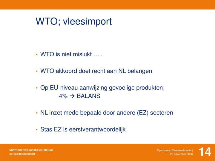 WTO; vleesimport