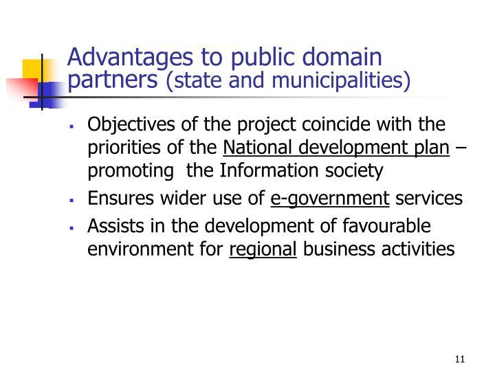Advantages to public domain partners