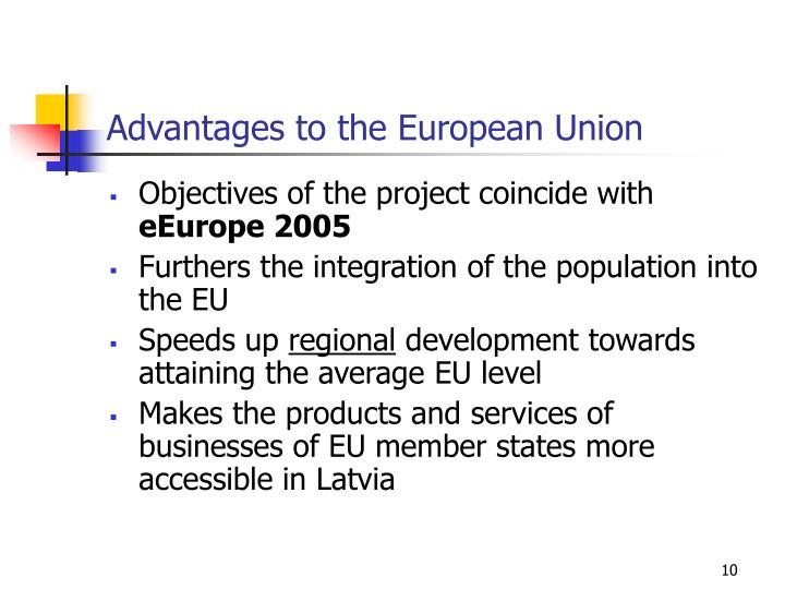 Advantages to the European Union