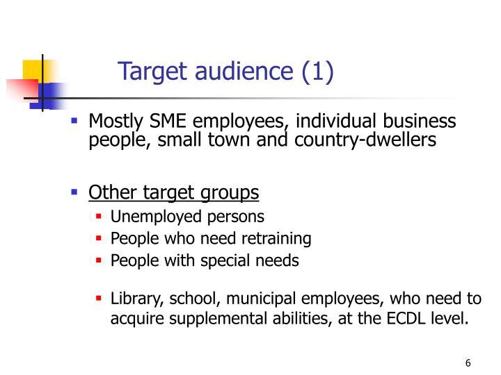 Target audience (