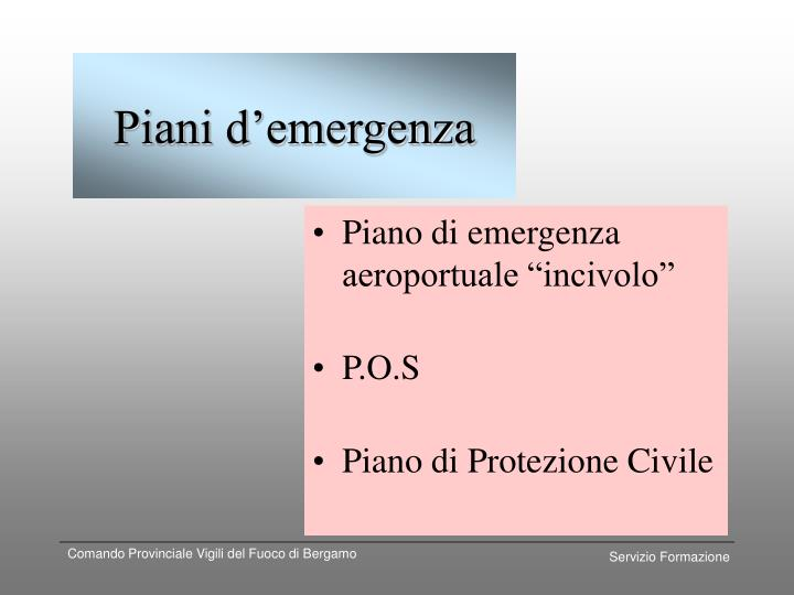 Piani d'emergenza