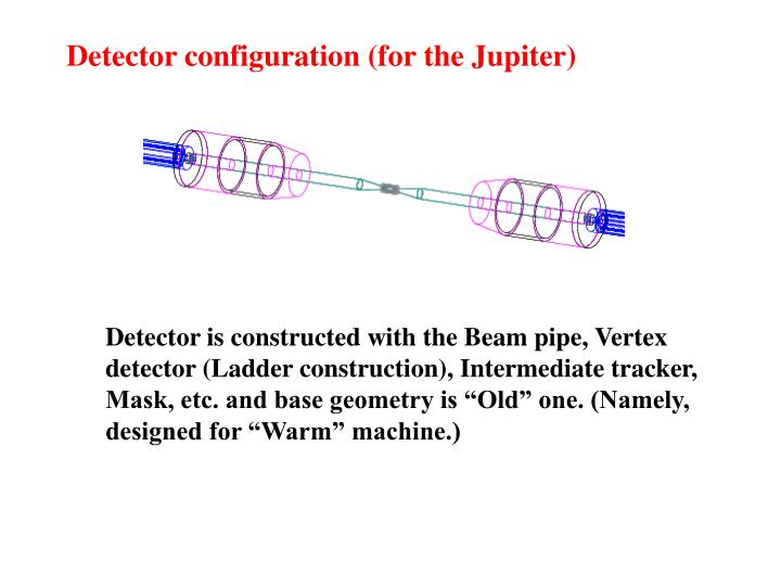 Detector configuration (for the Jupiter)
