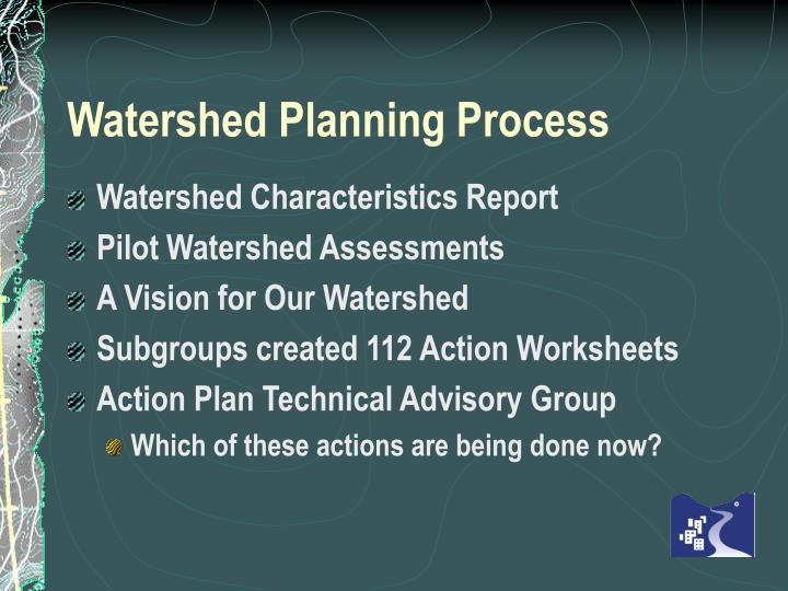 Watershed Planning Process