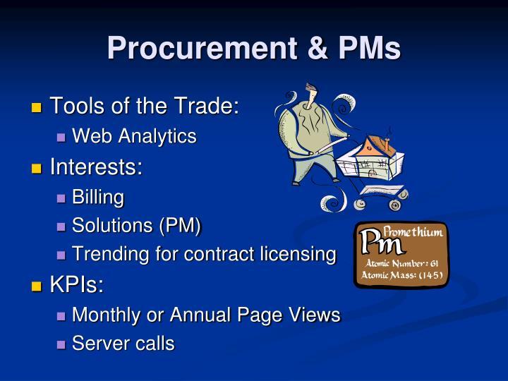 Procurement & PMs