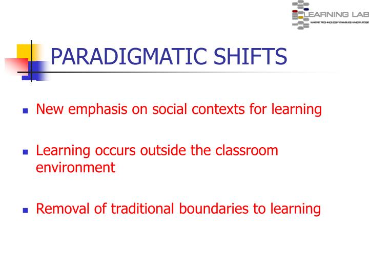 PARADIGMATIC SHIFTS