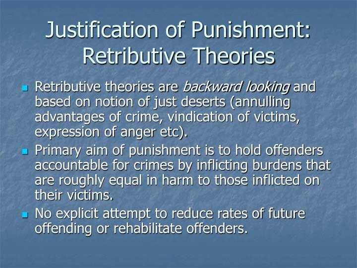 Justification of Punishment: Retributive Theories