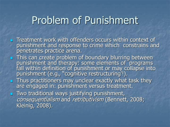 Problem of Punishment