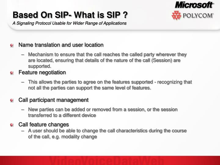 Based On SIP- What is SIP ?