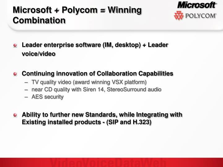 Microsoft + Polycom = Winning Combination
