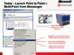 today launch point to point multi point from messenger