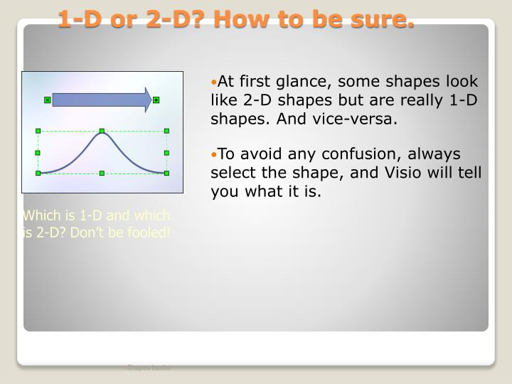 1-D or 2-D? How to be sure.