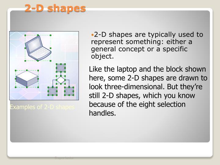 2-D shapes