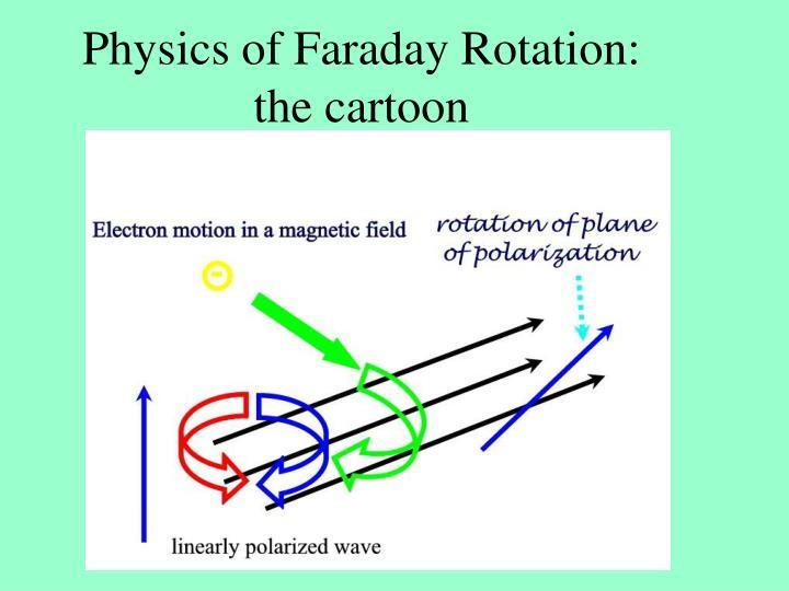 Physics of Faraday Rotation: the cartoon