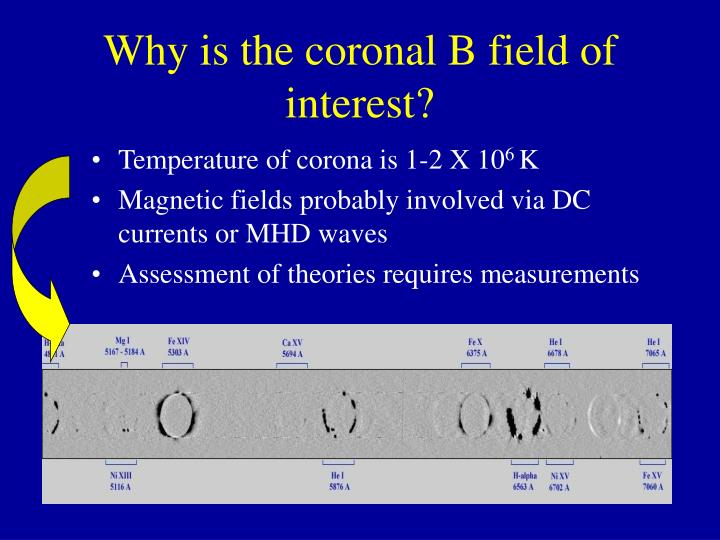 Why is the coronal b field of interest
