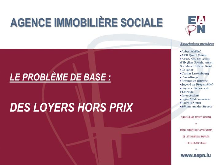 Agence immobili re sociale