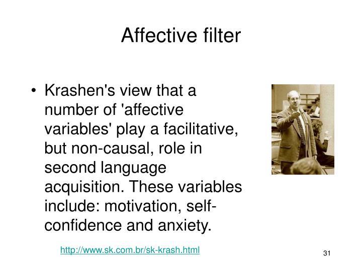Affective filter