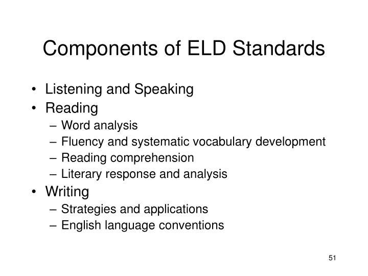 Components of ELD Standards
