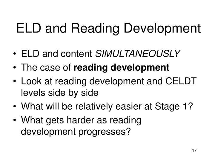 ELD and Reading Development