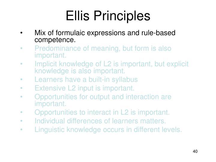 Ellis Principles