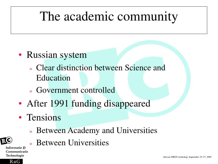 The academic community