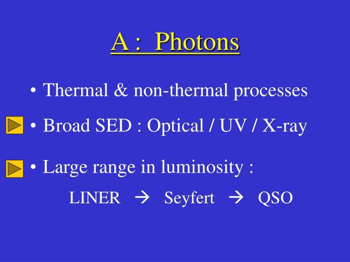 A :  Photons