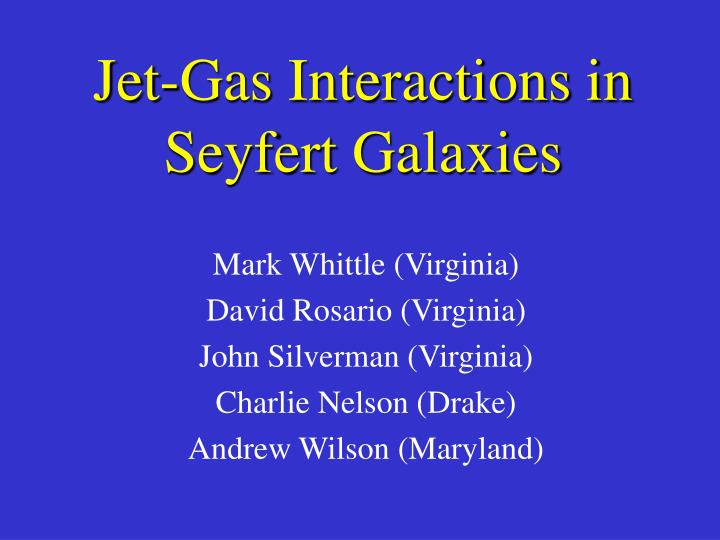Jet-Gas Interactions in