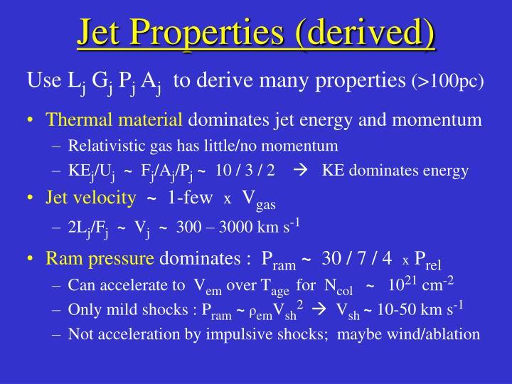 Jet Properties (derived)