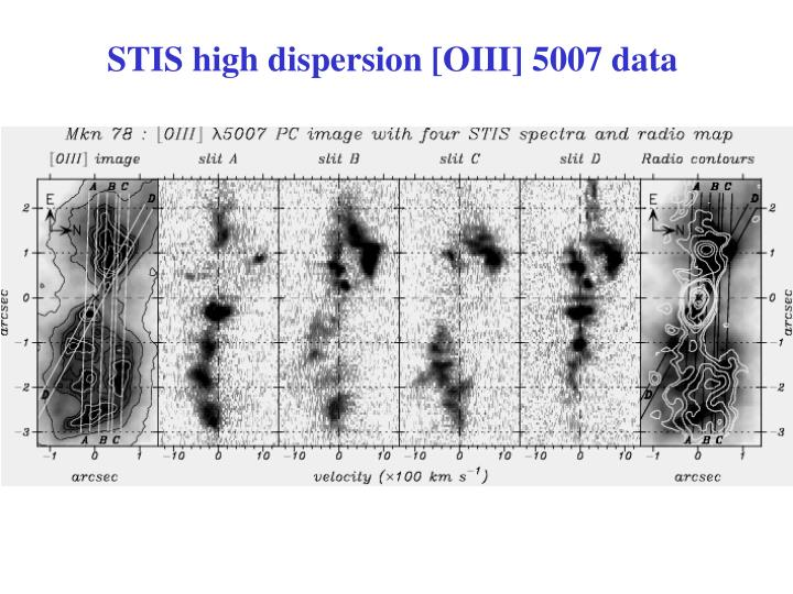 STIS high dispersion [OIII] 5007 data