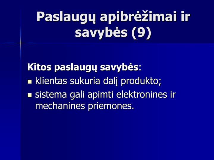 Paslaugų apibrėžimai ir savybės (9)