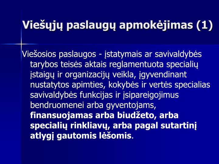 Viešųjų paslaugų apmokėjimas (1)
