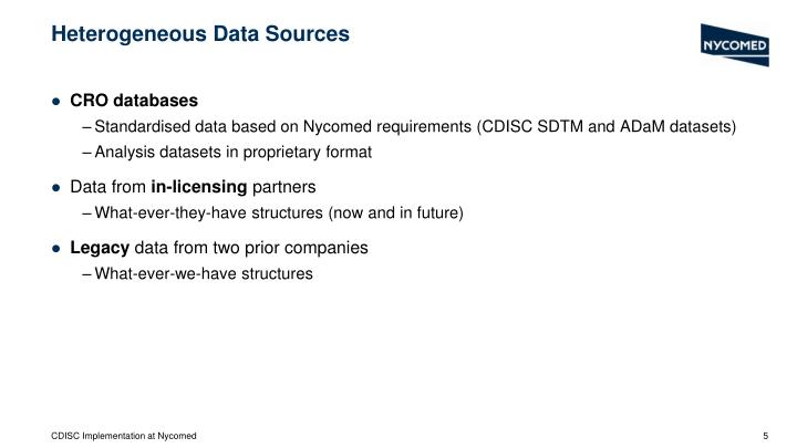 Heterogeneous Data Sources