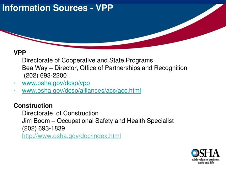 Information Sources - VPP