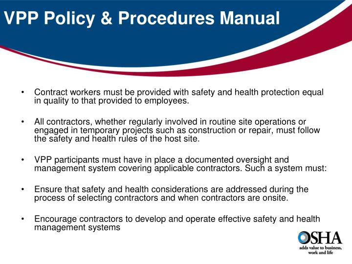 VPP Policy & Procedures Manual