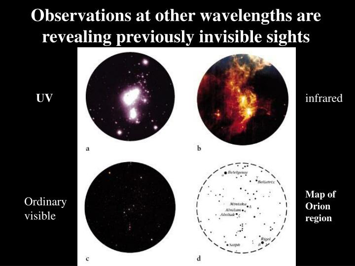 Observations at other wavelengths are revealing previously invisible sights