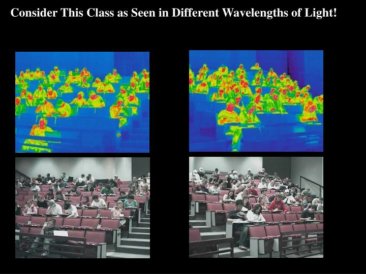 Consider This Class as Seen in Different Wavelengths of Light!