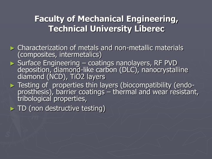 Faculty of Mechanical Engineering,