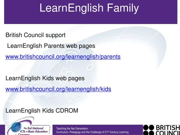 LearnEnglish Family