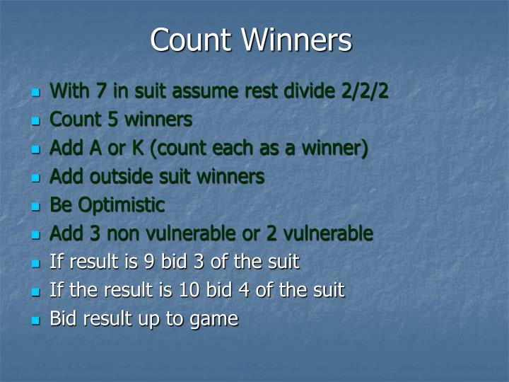 Count Winners