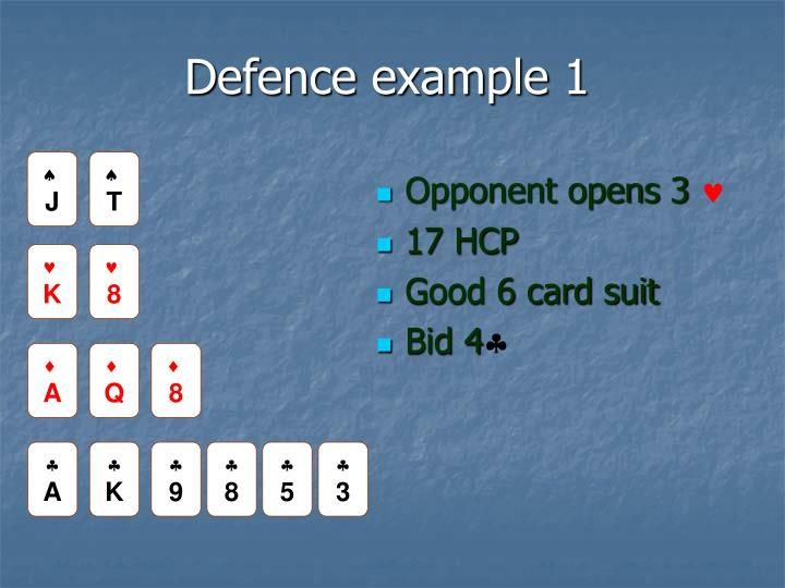 Defence example 1