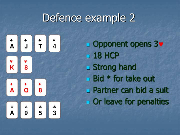 Defence example 2