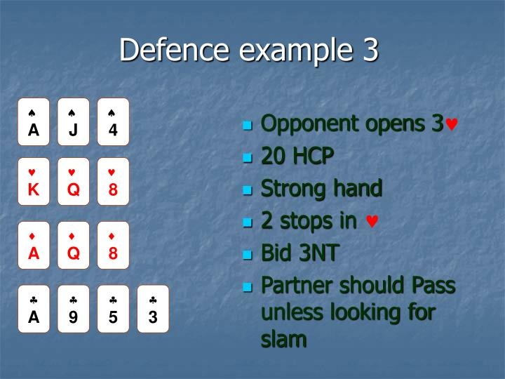 Defence example 3