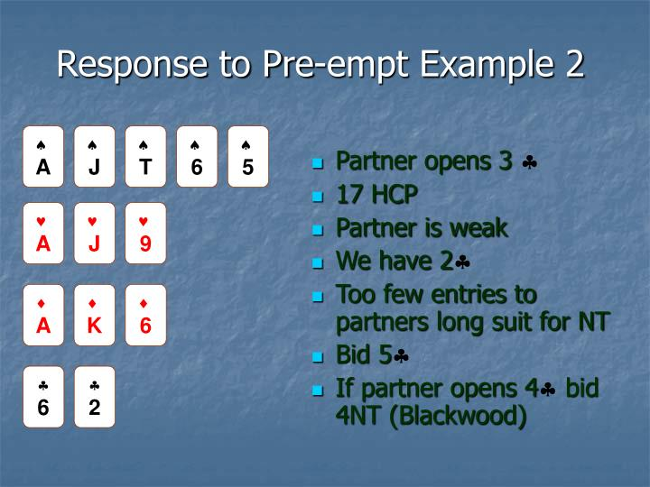 Response to Pre-empt Example 2
